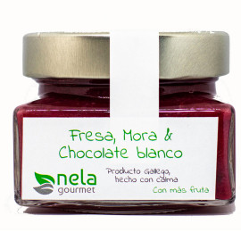 Mermelada Extra de Fresa, Mora y Chocolate Blanco (Vegana)