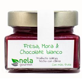 Mermelada de Fresa, Mora y Chocolate Blanco (Vegana)